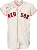 Baseball Collectibles:Uniforms, 1966 Rico Petrocelli Game Worn & Signed Boston Red Sox Jersey, MEARS Authentic....
