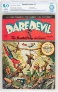 Golden Age (1938-1955):Superhero, Daredevil Comics #17 (Lev Gleason, 1943) CBCS Conserved VF 8.0White pages....