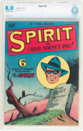 Golden Age (1938-1955):Crime, The Spirit #nn (#2) (Quality, 1945) CBCS VF 8.0 Off-white to white pages....