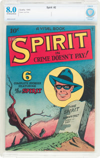 The Spirit #nn (#2) (Quality, 1945) CBCS VF 8.0 Off-white to white pages
