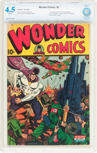 Wonder Comics #2 (Better Publications, 1944) CBCS VG+ 4.5 White pages