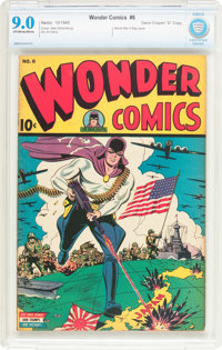 "Wonder Comics #6 Davis Crippen (""D"" Copy) Pedigree (Better Publications, 1945) CBCS VF/NM 9.0 Off-white to whi..."