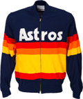 Baseball Collectibles:Uniforms, 1985-89 Yogi Berra Game Worn Houston Astros Jacket.. ...
