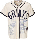 Baseball Collectibles:Others, 1990's Negro League Veterans Signed Jersey....