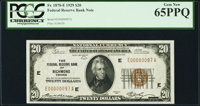 Fr. 1870-E $20 1929 Federal Reserve Bank Note. PCGS Gem New 65PPQ