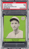 Baseball Cards:Singles (1940-1949), 1941 Goudey Joe Sullivan (SP, Green) #22 PSA NM 7 - The Finest PSAGreen Background! ...