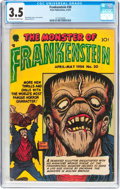 Golden Age (1938-1955):Horror, Frankenstein Comics #30 (Prize, 1954) CGC VG- 3.5 Off-white towhite pages....