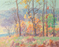 Fine Art - Painting, American:Modern  (1900 1949)  , Maurice Braun (American, 1877-1941). Autumn Tints. Oil oncanvas. 40-1/2 x 50-1/2 inches (102.9 x 128.3 cm). Signed lowe...