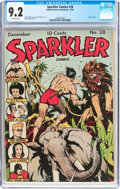 Golden Age (1938-1955):Superhero, Sparkler Comics #28 (United Features Syndicate, 1943) CGC NM- 9.2Off-white pages....