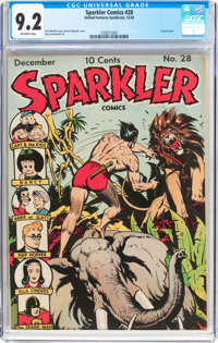 Sparkler Comics #28 (United Features Syndicate, 1943) CGC NM- 9.2 Off-white pages