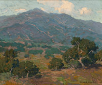EDGAR ALWIN PAYNE (American, 1883-1947) California Foothills with San Gabriel Mountains in the Distance