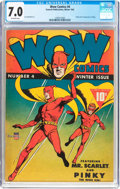 Golden Age (1938-1955):Superhero, Wow Comics #4 (Fawcett Publications, 1942) CGC FN/VF 7.0 Off-white pages....
