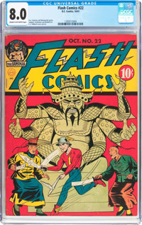 Flash Comics #22 (DC, 1941) CGC VF 8.0 Cream to off-white pages