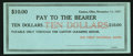 Obsoletes By State:Ohio, Canton, OH- Canton Clearing House $10 Nov. 11, 1907 Remainder. ...