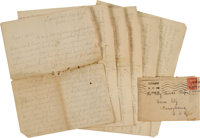 [Spanish American War]. Autograph Letter Signed by Leslie J. Wisener, Corporal, Company C, 6th Massachusetts Infantry, U...