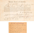 Military & Patriotic:Civil War, Civil War Oath of Allegiance Issued to a Confederate Soldier Captured at Sailor's Creek.... (Total: 2 )