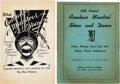 "Miscellaneous, [Black History]. ""Amateur Minstrel Club"" Programs (2), AnnualMinstrel Show & Dance... (Total: 2 Items)"