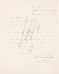 Autographs:Military Figures, [Civil War]. Special Orders to Lieutenant Colonel George Duncan Wells from Assistant Adjutant General E.D. Townsend....