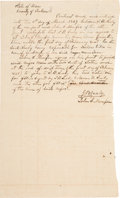 Miscellaneous:Ephemera, Slave for Hire Agreement....