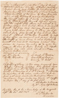 Miscellaneous, Early Republic of Texas Slave Bill of Sale Issued to a TexasDeclaration Signer. ...