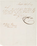 Autographs, Cyrus W. Field Letter Signed....