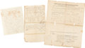 Autographs:Statesmen, 19th Century Statesmen. Group Lot of 3 Documents.. ... (Total: 3Items)