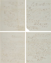 [Civil War]. Manuscript Orders (4) Concerning the 2nd Division, 20th Army Corps March from Raleigh, North Carolina, to W...