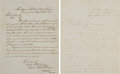 Militaria:Ephemera, [Civil War]. Two Manuscript Documents Relating to the 20th CorpsUnion Army March through the North Carolina. ... (Total: 2 )