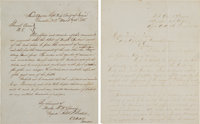 [Civil War]. Two Manuscript Documents Relating to the 20th Corps Union Army March through the North Carolina