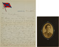 Militaria:Ephemera, [Civil War]. Autograph Letters Signed by Robert C. Crouch,Confederate Prisoner of War at Johnson's Island, along with aPhoto... (Total: 4 Items)