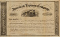Autographs, Henry Wells and William Fargo Signed American Express Stock Certificate. ...