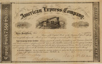 Henry Wells and William Fargo Signed American Express Stock Certificate