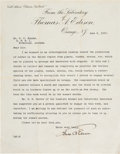 Autographs:Inventors, Thomas Edison Typed Letter Signed... (Total: 2 )