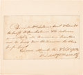 Autographs:Military Figures, Brigadier General Anthony Wayne Autograph Document Signed....