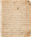 Autographs:Authors, Robert Burns Autograph Manuscript....