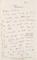 Autographs, Charles Darwin Autograph Letter Signed. ...
