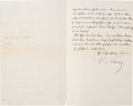 Autographs:Military Figures, Carl Schurz Letter Signed. ...