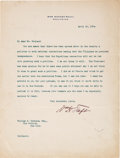 Autographs:U.S. Presidents, William H. Taft Typed Letter Signed as Secretary of War. ...