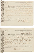 Militaria:Ephemera, USS Constitution Sundry and Maintenance Receipts (2)....(Total: 2 Items)