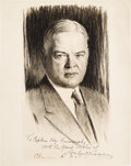 Autographs:U.S. Presidents, Herbert Hoover Signed Image, Inscribed to Kay Summersby. ...
