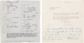 Autographs:U.S. Presidents, Franklin D. Roosevelt Autograph Note Signed with RelatedDocument....