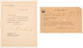Autographs:U.S. Presidents, Franklin D. Roosevelt Typed Letter Signed.... (Total: 2 )