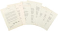 Autographs:U.S. Presidents, Dwight D. Eisenhower Typed Letters (6) Signed ... (Total: 7 Items)