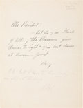 Autographs:U.S. Presidents, Franklin D. Roosevelt Autograph Note Signed as President.... (Total: 2 Items)