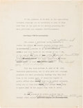 Autographs:U.S. Presidents, Franklin D. Roosevelt Partial Draft of Speech with HandwrittenEdits. ...