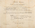Autographs:U.S. Presidents, Andrew Jackson Signed Naval Appointment....