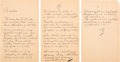 Autographs:Inventors, Thomas Edison. Autograph Letter Signed with Initials. ... (Total: 2 )