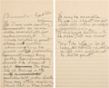 "Autographs:Inventors, Thomas Edison Autograph Letter Draft Signed ""E"". ..."