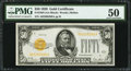 Small Size:Gold Certificates, Fr. 2404 $50 1928 Gold Certificate. PMG About Uncirculated 50.. ...