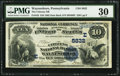 National Bank Notes:Pennsylvania, Waynesboro, PA - $10 1882 Date Back Fr. 545 The Citizens NB Ch. #(E)5832. ...